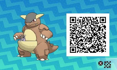 165 Pokemon Sun and Moon Kangaskhan QR Code