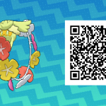 174 Pokemon Sun and Moon Comfey QR Code