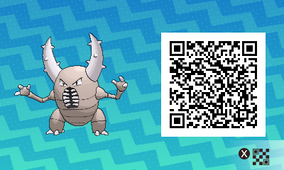 175 Pokemon Sun and Moon Pinsir QR Code