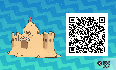 187 Pokemon Sun and Moon Palossand QR Code