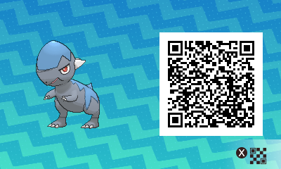 188 Pokemon Sun and Moon Cranidos QR Code