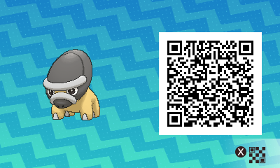 190 Pokemon Sun and Moon Shieldon QR Code