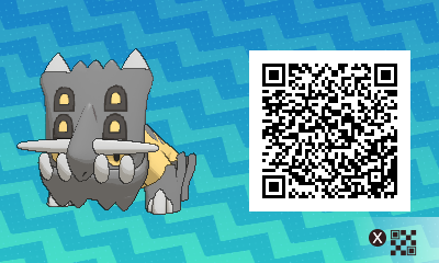 191 Pokemon Sun and Moon Bastiodon QR Code