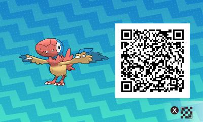 192 Pokemon Sun and Moon Archen QR Code