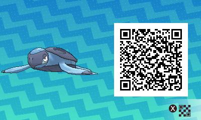 194 Pokemon Sun and Moon Tirtouga QR Code