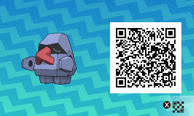 198 Pokemon Sun and Moon Nosepass QR Code
