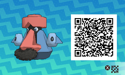 199 Pokemon Sun and Moon Probopass QR Code