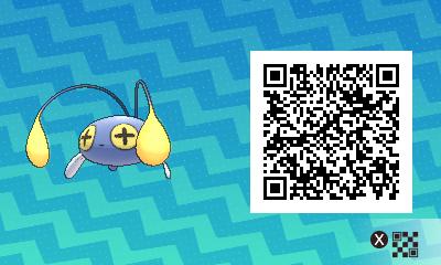 201 Pokemon Sun and Moon Chinchou QR Code