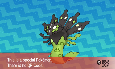 205 Pokemon Sun and Moon Zygarde QR Code