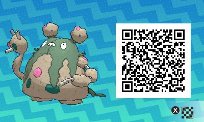 207 Pokemon Sun and Moon Garbodor QR Code