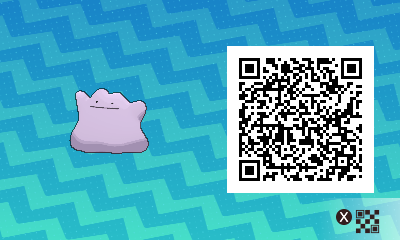 209 Pokemon Sun and Moon Ditto QR Code