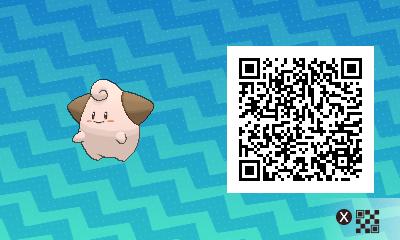 210 Pokemon Sun and Moon Cleffa QR Code