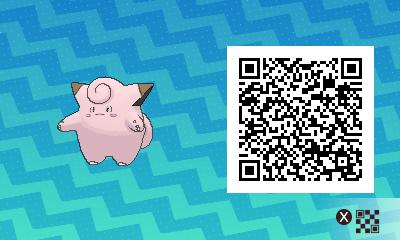 211 Pokemon Sun and Moon Clefairy QR Code