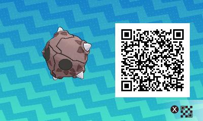 213 Pokemon Sun and Moon Minior QR Code