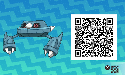 215 Pokemon Sun and Moon Metang QR Code