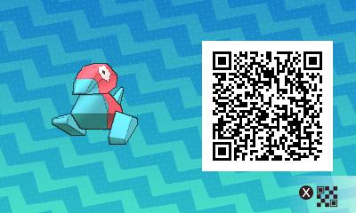 217 Pokemon Sun and Moon Porygon QR Code