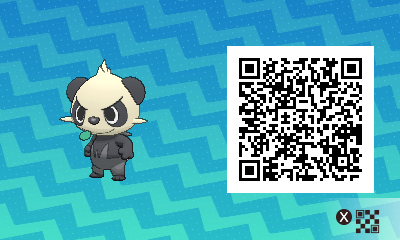 220 Pokemon Sun and Moon Pancham QR Code