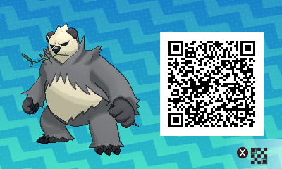 221 Pokemon Sun and Moon Pangoro QR Code