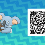 222 Pokemon Sun and Moon Komala QR Code