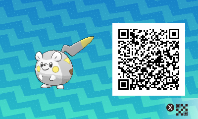 225 Pokemon Sun and Moon Togedemaru QR Code