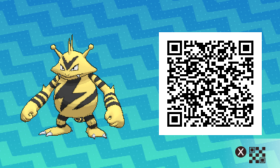 227 Pokemon Sun and Moon Electabuzz QR Code