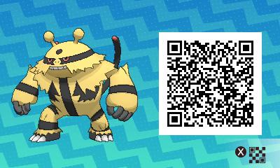 228 Pokemon Sun and Moon Electivire QR Code