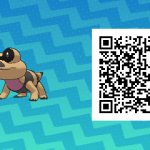 232 Pokemon Sun and Moon Sandile QR Code