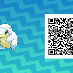 251 Pokemon Sun and Moon Alolan Sandshrew QR Code