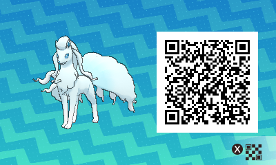 254 Pokemon Sun and Moon Alolan Ninetales QR Code