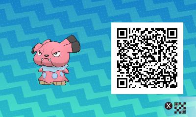 258 Pokemon Sun and Moon Snubbull QR Code