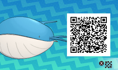 267 Pokemon Sun and Moon Wailord QR Code