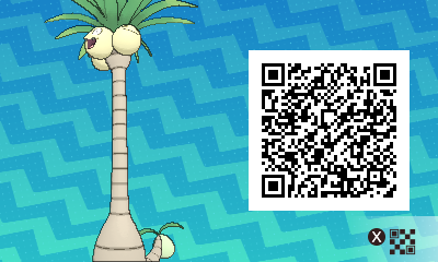 270 Pokemon Sun and Moon Alolan Exeggutor QR Code