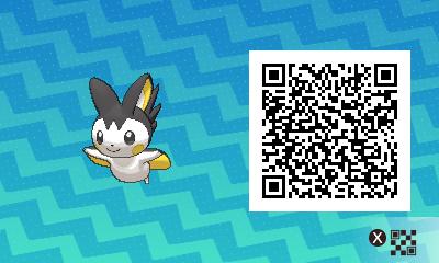 274 Pokemon Sun and Moon Emolga QR Code