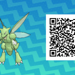 275 Pokemon Sun and Moon Scyther QR Code