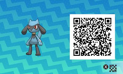 279 Pokemon Sun and Moon Riolu QR Code