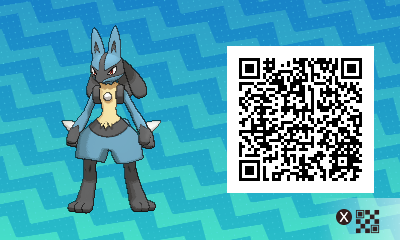 280 Pokemon Sun and Moon Lucario QR Code