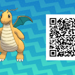 283 Pokemon Sun and Moon Dragonite QR Code