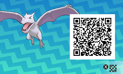 284 Pokemon Sun and Moon Aerodactyl QR Code