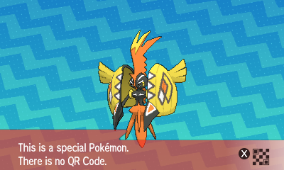 285 Pokemon Sun and Moon Tapu Koko QR Code