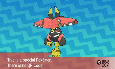287 Pokemon Sun and Moon Tapu Bulu QR Code