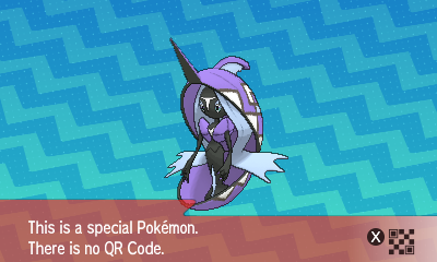 288 Pokemon Sun and Moon Tapu Fini QR Code