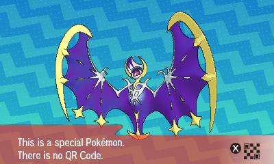 292 Pokemon Sun and Moon Lunala QR Code