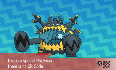 299 Pokemon Sun and Moon Guzzlord QR Code