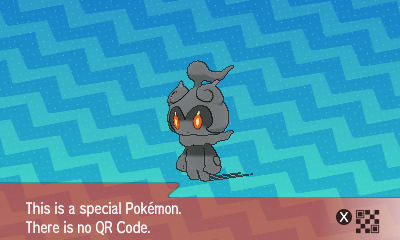 302 Pokemon Sun and Moon Marshadow QR Code