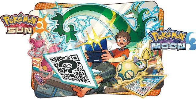 Pokemon Sun and Moon QR Codes