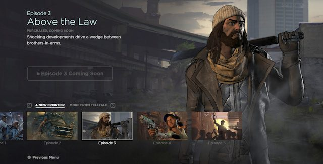 The Walking Dead Game Season 3: Episode 3 Release Date