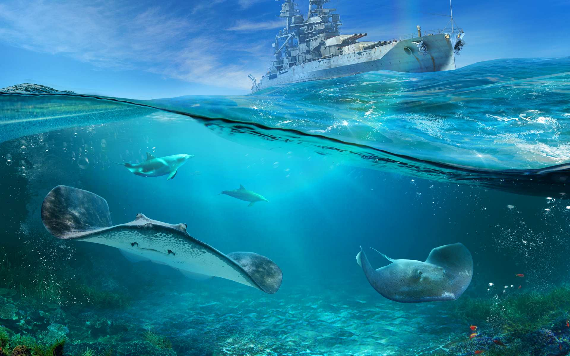 World of Warships World Oceans Day Wallpaper
