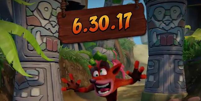 Crash Bandicoot N. Sane Trilogy Relase Date