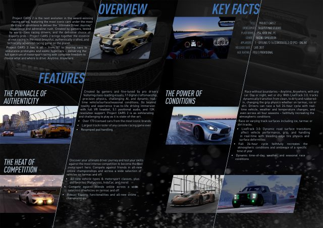 Project CARS 2 Fact Sheet