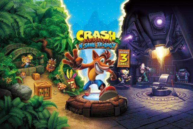 Crash Bandicoot N. Sane Trilogy key artwork